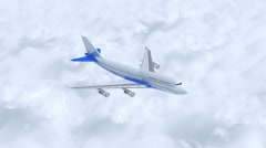 Surrounding view of Flying airliner airbus Stock Footage