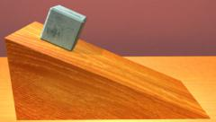 Friction on an inclined plane Stock Footage