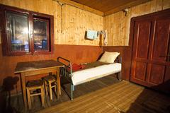 Interior of poor house - stock photo