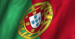 Portugal Waving Flag-4K Stock Footage