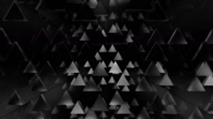 Disco triangle white Stock Footage