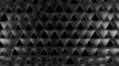 Hard gray triangle Stock Footage