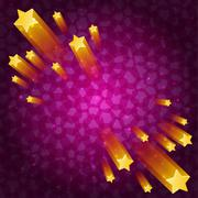 Stars space abstraction - stock illustration