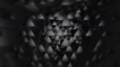 Disco triagonal white Stock Footage
