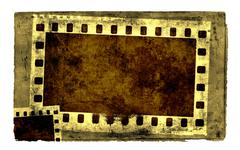 Grunge film strip frame Stock Illustration