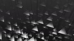 Grey triagonal edge Stock Footage