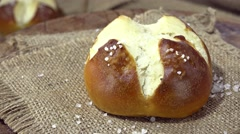 Salty Pretzel Rolls (not loopable) Stock Footage