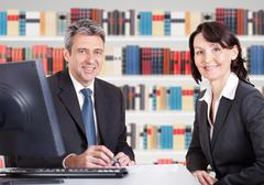 Business people in the office at the meeting Stock Photos