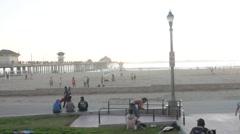 Huntington Beach California Lifestyle Stock Footage
