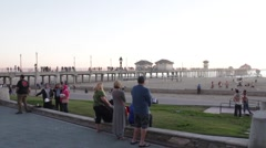 Huntington Beach, California Lifestyle 4 Stock Footage