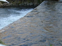 Creek Waterfarll Slow Motion View From The Top Of The Waterfall Stock Footage