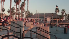 People in Huntington Beach, Time Lapse Stock Footage
