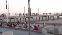 Huntington Beach, California Lifestyle 7 Stock Footage