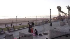Wide Angle of Huntington Beach Stock Footage