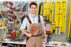 Friendly handyman Stock Photos
