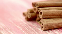 Cinnamon rotates Stock Footage