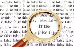 True and false Stock Photos