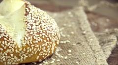Sesame Roll (not loopable) Stock Footage