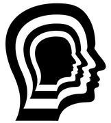 Repeated Head - stock illustration