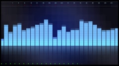 Equalizer blue HUD design Stock Footage