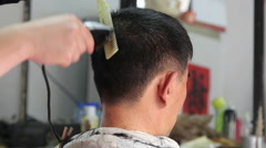 Traditional hair cut shop Stock Footage