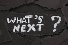 What's next? - stock photo