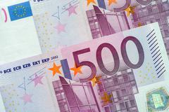 Five Hundred Euro Banknotes Stock Photos