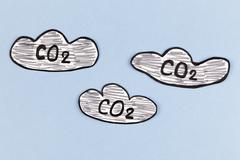 Carbon Dioxide Clouds Stock Photos