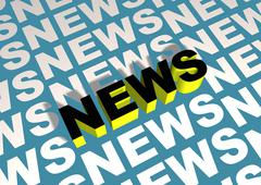 Angled News Stock Illustration