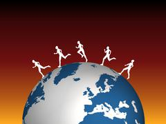 Global runners Stock Illustration