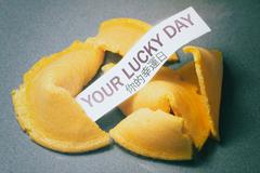 Fortune Cookie Your Lucky Day - stock photo