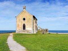 Santa Catalina hermitage in Mudaka. Basque Country - stock photo