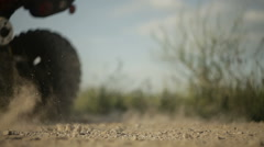 ATV riding on a dirt road - stock footage