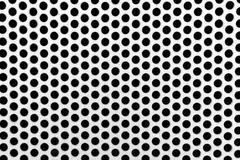 Metal net with perforated circles - stock photo