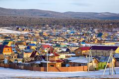 Khuzhir village near Baikal lake Stock Photos
