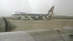 Stock Video Footage of Milan 1970s: arriving at Malpensa airport