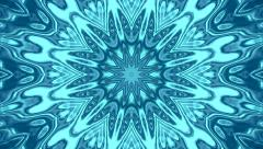 Floral kaleidoscopic circle pattern with water stream effect. Stock Footage