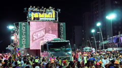 Crowd Partying on the Street at Carnaval in Salvador, Bahia, Brazil Stock Footage