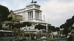 Rome 1970s: traffic at the Vittoriano - stock footage