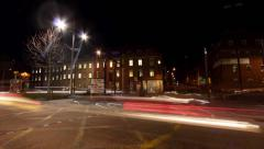 Rotating timelapse of traffic at a busy crossing in Bristol Stock Footage