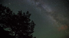 Norway rotating milky way stars timelapse - stock footage
