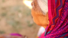 Closeup of old Indian Women Stock Footage