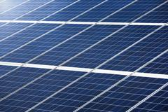 Photovoltaic panel for power generation texture or pattern - stock photo