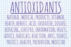 Stock Illustration of Antioxidants word cloud