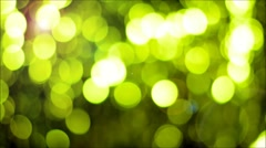 Green Bokeh  Background with lens flare. Stock Footage