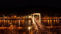 Budapest - Elisabeth Bridge Stock Footage