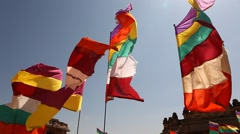 Colorfull Flags Stock Footage