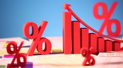 Financial chart background Stock Footage