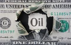 Oil headline - stock photo