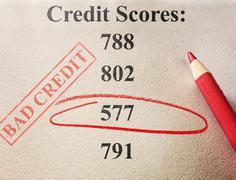 bad credit score - stock photo
